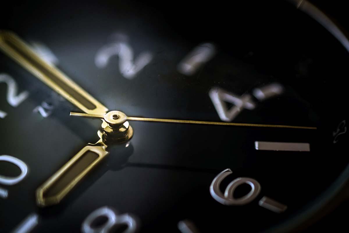 Uhr Nahaufnahme