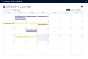 Marketingkalender ClickDimensions